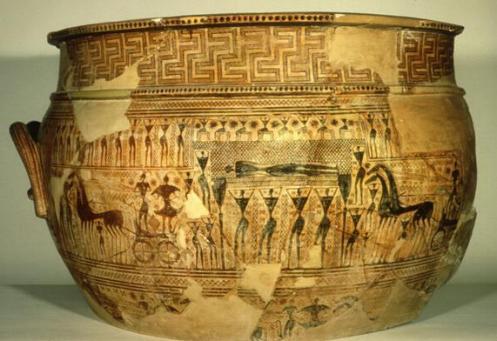 Pieza de la Antigua Grecia