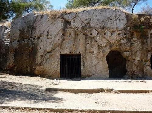 La prisión de Sócrates, en Atenas