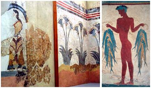 Resultado de imagen de pinturas de akrotiri