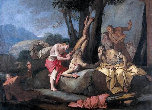 El mito de Apolo y Marsias