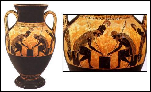 Las figuras negras y el banquete griego