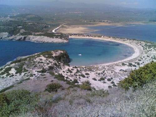 La bahía de Voidokilia, paisaje excepcional