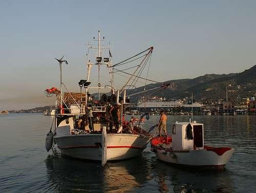 pescar en Grecia