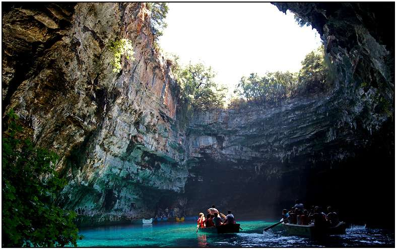 lago cueva melisani, cefalonia, jónicas