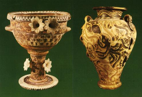 La cerámica minoica, evolución monocroma