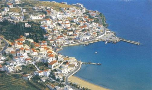 Batsi, isla de Andros, archipielago de las c�cladas
