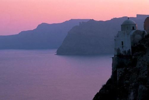 Creta al atardecer