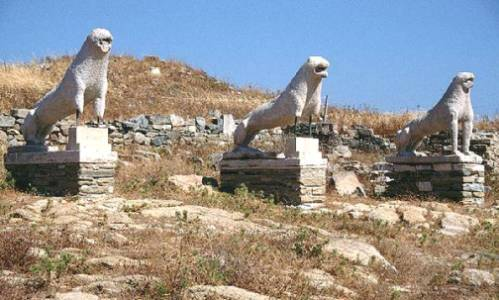 Delos, terraza de los leones, C�cladas