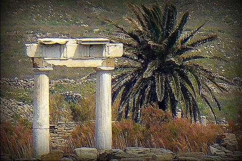 Delos nacimiento Apolo, C�cladas
