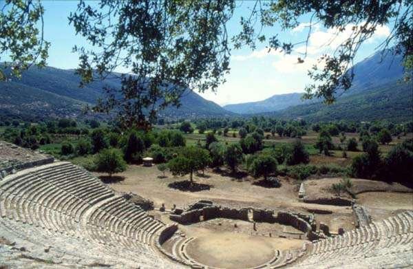 El Oraculo de Dodona, bajo el Monte Tomaros