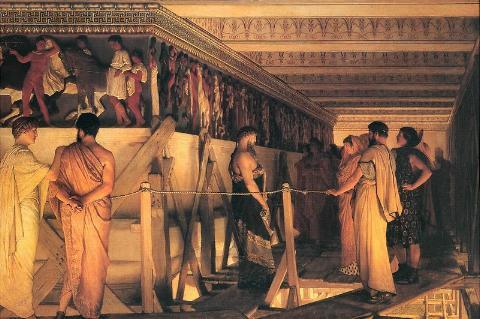 Fidias y el friso de las Panateneas