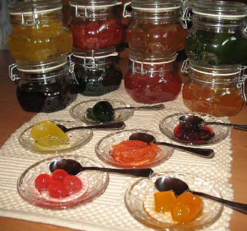 Frutas griegas en almibar