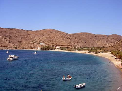 Isla en Grecia