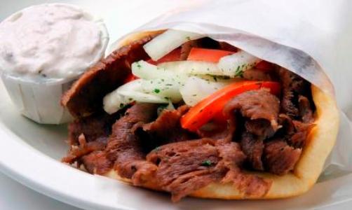 Gyros, típica comida rápida en Grecia