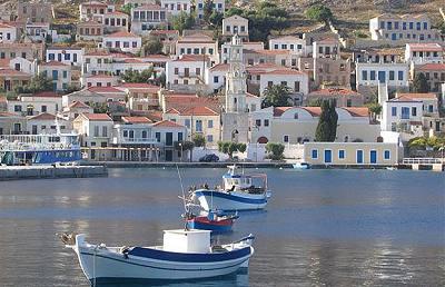 Nimborio, puerto y pueblo de Halki, Dodecaneso