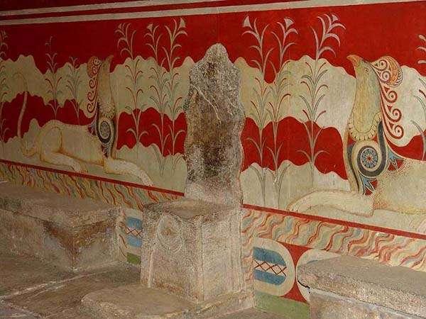 Salón del Trono, Palacio de Knossos, Creta