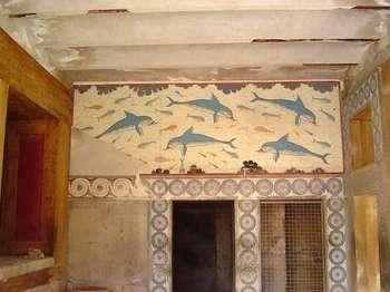 Knosos, Megaron de la reina, fresco