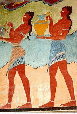 Frescos procesionales, Palacio de Knossos, Creta, Grecia