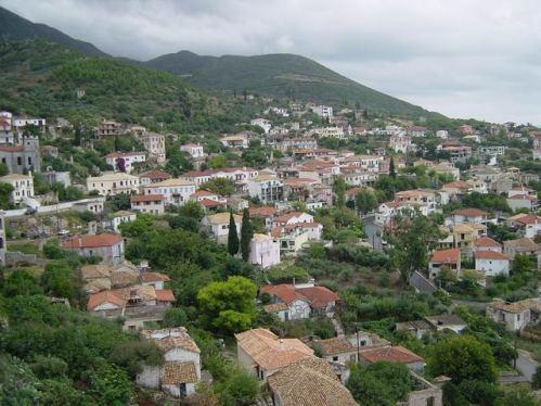 La ciudad alta de Kyparissia.