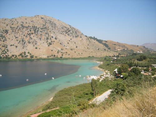 Lago Kournas, misteriosa joya de Creta