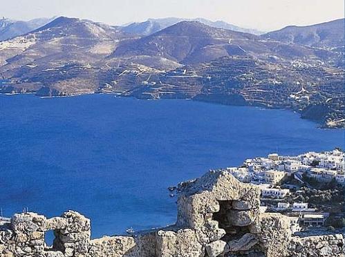Vista de Leros, isla griega