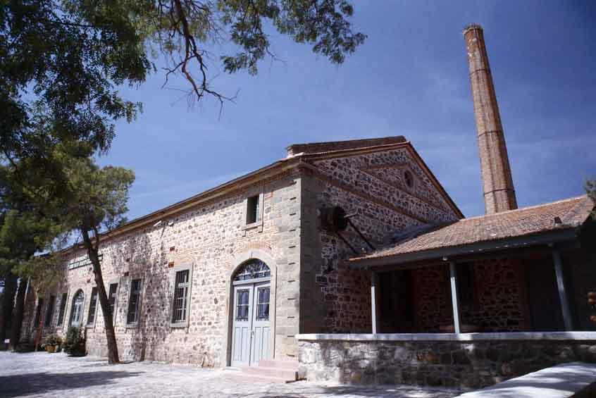 Museo producción oliva, lesbos, egeo