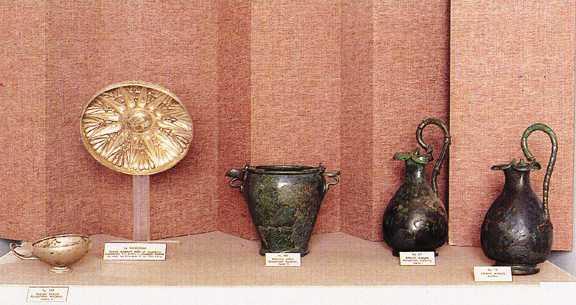 Piezas de metal, museo histórico, folklórico y natural de kozani, macedonia