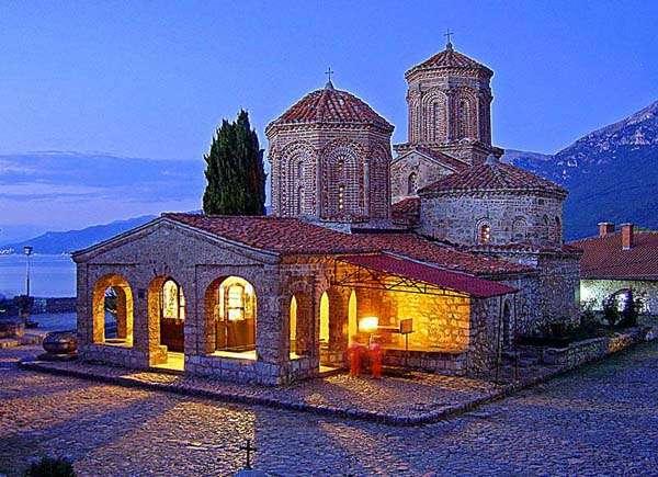 Monasterio eslavo Ohrid, Macedonia