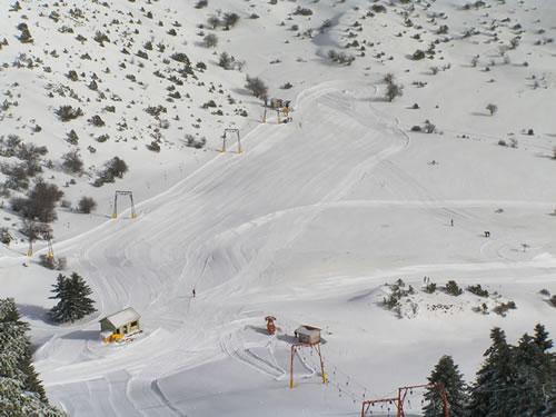 Mainalo, esqui en Grecia