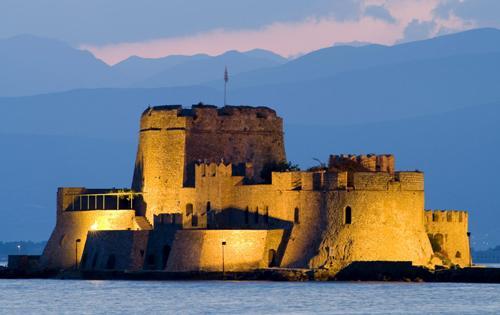 La fortaleza de Bourtzi, en Nauplia