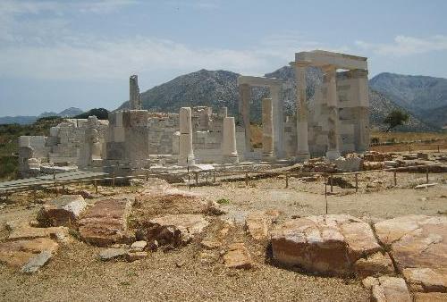 El Templo de Deméter, en Naxos