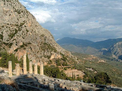 Templo de Apolo en el Parnaso