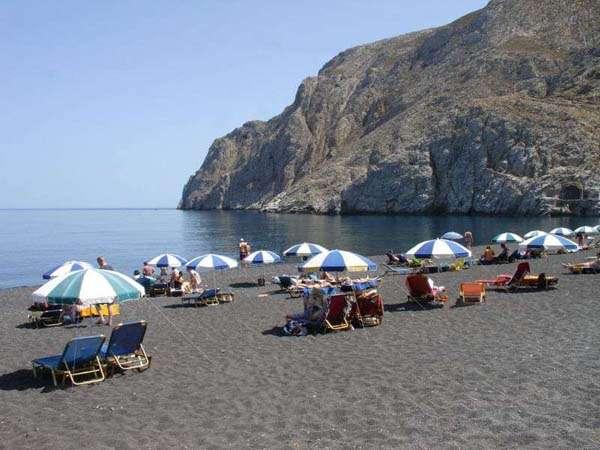 Playas negras de Santorini