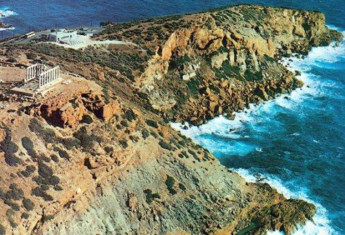 Cabo sounion, Templo de Poseidón