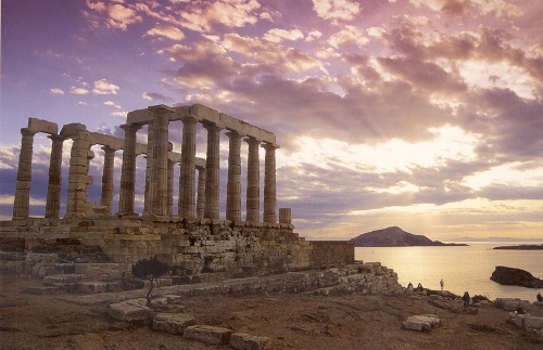 Cabo Sounion, Templo de Poseidón, mar Egeo