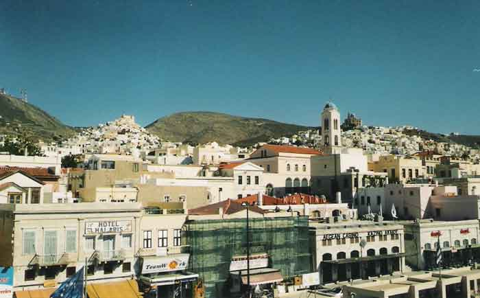 Ermoupolis, Ano Sira y la costa de Siros