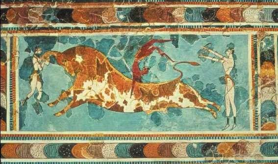 Fresco del Palacio de Knosos, Creta